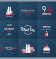 patriot day design template collection september vector image vector image