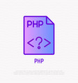 php file format thin line icon modern vector image vector image