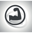 Powerlifting sign sticker curved vector image