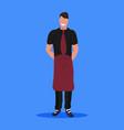 professional man waiter in uniform standing pose vector image vector image
