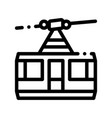 public transport aerial lift thin line icon vector image vector image