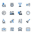 School and Education Icons Set 3 - Blue Series vector image vector image