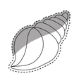sea shell creature vector image vector image