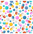 seamless pattern of pills and other vector image vector image
