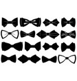 set different bow ties vector image vector image