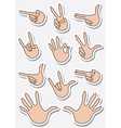 set of gestures sticker vector image vector image