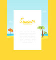 Summer tropical sea beach background with space
