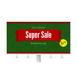super sale ad with fifty percent discount on white vector image vector image