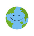 the planet is smiling vector image vector image