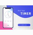 timer app poster vector image