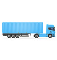 truck semi trailer 05 vector image vector image