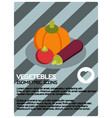 vegetebles color isometric poster vector image vector image