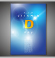 vitamin d poster vector image vector image