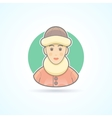 Warm dressed woman polar explorer icon vector image vector image