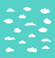 white clouds set on blue background vector image
