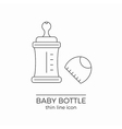 Line icon for baby bottle vector image