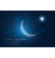 crescent moon into the night sky vector image