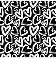 Seamless pattern white heart on black background vector image
