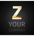 abstract logo letter Z vector image