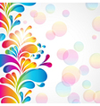 Abstract background with bright teardrop-shaped