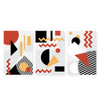 abstract minimal pattern with geometric shapes set vector image vector image