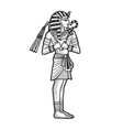 ancient egyptian pharaoh sketch vector image vector image