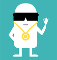 Animated personality vector image vector image