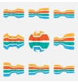 Arrows Icons set - Isolated On white Background vector image vector image