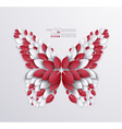 Artistic butterfly design vector image