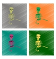 assembly flat shading style icon skeleton vector image vector image