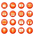Audio and video icons set vector image
