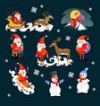 baby in hands of santa claus makes wish man in vector image vector image