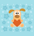 background with funny dog cartoon vector image vector image