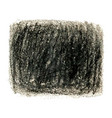 black crayon scribble texture stain isolated on vector image vector image
