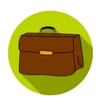 Briefcase icon in flat style isolated on white vector image vector image
