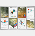 business brochure template and infographics vector image vector image