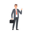 businessman saying hello character vector image vector image