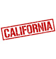 California red square stamp vector image vector image