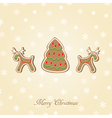 Candy Christmas card vector image vector image