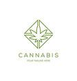 cannabis line art logo icon vector image
