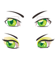 Cartoon Green Eyes vector image vector image