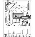 child in his bedroom vector image vector image
