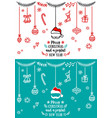 christmas design elements christmas design vector image vector image