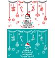 christmas design elements design vector image vector image