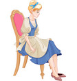 cinderella ready to wear the glass slipper vector image vector image
