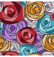 Colored art rose seamless pattern vector image vector image