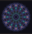 colored lotus cut from paper on dark blue vector image vector image