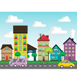 colorful houses on street vector image