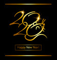 design golden poster text 2020 happy new year vector image