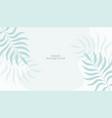elegant white leaves background design vector image vector image